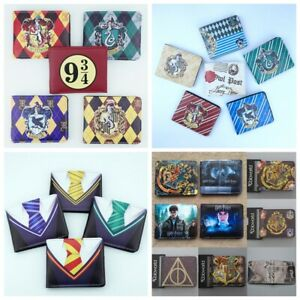 Harry Potter Wallet Hogwarts School Bifold Purse PU Leather Card Holders Gift