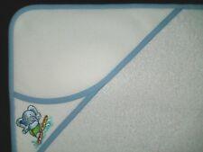 Sortie de bain cape à broder, broderie au point de croix éléphant bleu 813