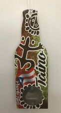 Beer Wood Hanging Bottle Opener Coqui Taino Puerto Rico Flag SOUVENIRS 7.75x2.5""