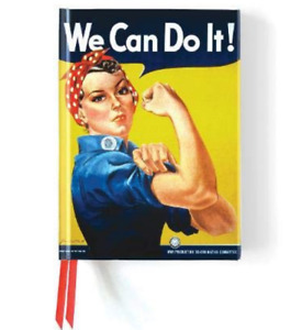 We Can Do It! Rosie the Rivieter Journal Hardcover) 6x8.5 in, magnetic closure