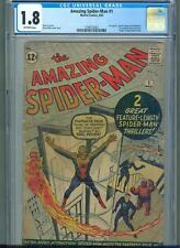 Amazing Spider-Man #1 (Mar 1963, Marvel) CGC 1.8  * 2nd Appearance of Spider-Man