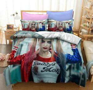 Harley Quinn Duvet Quilt Cover Sport Bedding Set Pillowcase Single Double Size