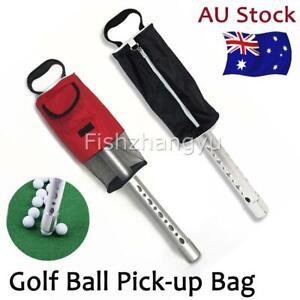 Golf Ball Picker pick up Putter Holder Retriever Storage Carry Bag Collector OZ