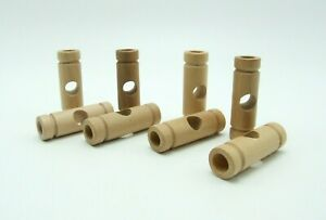 Tinkertoy 8 Connectors Replacement Parts Wooden Tinker Toy Pieces Natural Wood