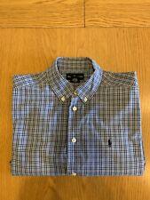 Ralph Lauren Long Sleeve Shirt Classic Fit Blue Check 14 - 16 Yr Genuine Polo RL
