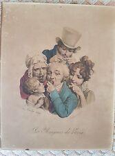 Lithographie Les Mangeurs de Noix signée L.Boilly 1826 by Delpech