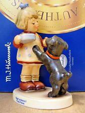 "GOEBEL HUMMEL FIGURINE ""PUPPY PAUSE"" HUM #2032 TMK8 FIRST ISSUE GERMANY MIB C585"