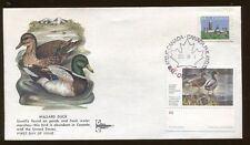 1985 Canadian Duck Fdc $4.00 Mallard Duck on Colorful Gill Craft Cachet