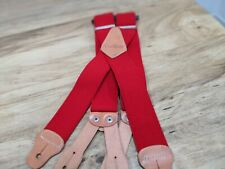 "RARE VTG Carhartt Men's Dungaree Suspender Red A108Red 46"" Length One Size"