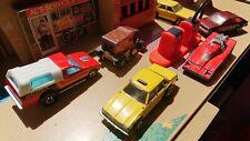 Hot Wheels Blackwalls vintage lot - D-50, Chevy,T-Totaller, Cannonade Taxi Aries