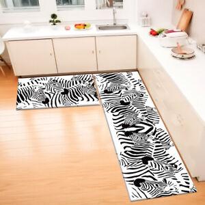 Black White Design Abstract Zebra Area Rugs Kitchen Living Room Floor Mat Carpet
