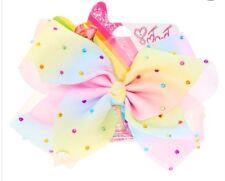 🎀 Jojo Siwa Grand Rainbow Strass Hair Bow NEW OUT Exclusive BNWT 🎀