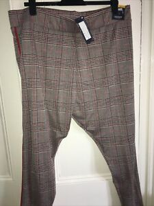 NWT Ladies Check Leggings By M&S Size 24