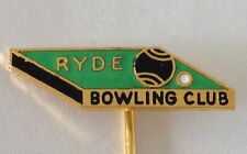 Ryde Bowling Club Pin Badge Rare Vintage (K6)