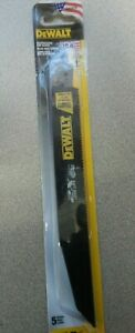 """DeWALT Reciprocating Saw Blades DWA4179 10 TPI 9"""" 5 Pack NEW WITH FREE SHIPPING"""