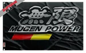 Mugen Power Flag Banner (3x5 ft) Motorsports Japanese Honda Car Parts Garage