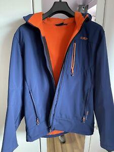 CMP Softshell Jacke Grösse 56 Farbe Blau mit Kapuze