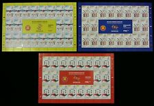 Malaysia Chairman Of ASEAN 2015 Flag Traditional Costume (sheetlet 3's) MNH