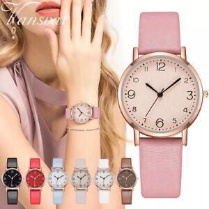Womens Watches Ladies Wrist Watch Quartz Analogue Casual Leather Gift Fashion UK