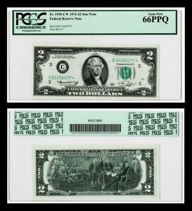 ***STAR NOTE ***  Fr.1935-C* 1976* DALLAS $2 Federal Reserve Note ~~PCGS 66PPQ