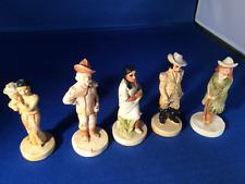 Vintage Sebastian P.W. Baston Miniatures - Lot Of 5 Figurines 1940S 1950S