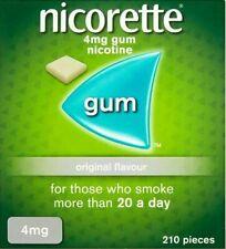 NICORETTE ORIGINALFLAVOUR  4MG NICOTINE GUM 210 PIECES QUIT WITHOUT WEIGHTGAIN