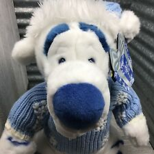 Disney Store Exclusive Tigger White Blue SnowFlake Sweater Hat With Gift Tag