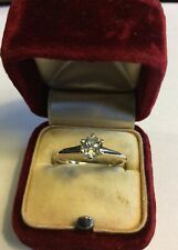 ANTIQUE OSTBY BARTON 14K GOLD  NATURAL .40ct.OMC DIAMOND Wedding Engagement RING