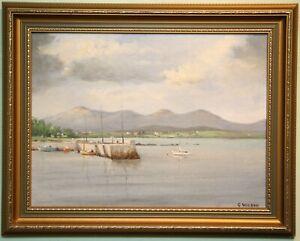 Irish Art Original Oil Painting ROUNDSTONE, CONNEMARA, IRELAND by GEORGE WILSON