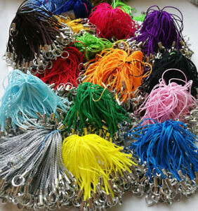 100X Cell Phone Lanyard Cords Strap Lariat DIY with Double Loop Split Ring
