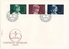 Liechtenstein FDC Ersttagsbrief 1975 Bildnisse des Fürstenhauses Mi.620-22