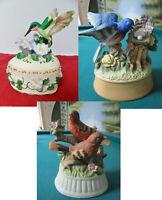 Ceramic music boxes birds pick one 1