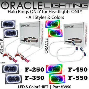 ORACLE Halo Rings Kit for Headlights for 99-04 Ford F250 Excursion *All Colors