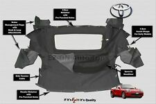 Fits: (EZ-ON) Toyota MR2 Spyder Convertible Soft Top Black Twill 2000-2007