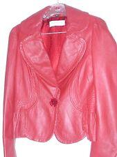 TopShop vintage en cuir rouge années 80 style perfecto Petit Festival Alexa Hipster