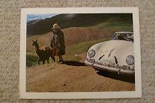 1962 Porsche 356 Bend Window ('54 – '55) Showroom Advertising Poster RARE!! L@@K