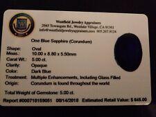 ONE BLUE SAPPHIRE CORUDUM STONE