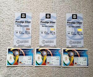 FIFA World Cup 2002 Match 29/36/44 Ticket + Prestige Silver Pass