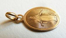 Petit pendentif médaille religieuse en OR massif 19e siècle 1878 gold medal
