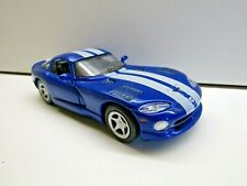 Maisto 1:39 Scale Die-cast model Dodge Viper GTS 1998 - Blue with White Stripes