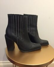 ASOS leather black boots size 5 barely worn