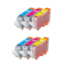 6 COLOR Ink Set + Chip for Canon Series CLI-8 MP600 MP800 MP830 iP6600D iP6700D