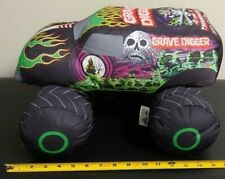 "Grave Digger Plush Truck Soft Pillow - Measures Approximately 10"" X 15"" X 16"""