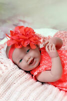 "BABY GIRL SMILING SOFT DOLL REAL REBORN BERENGUER 15"" INCH VINYL LIFELIKE ALIVE"