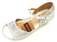 Pikolinos Damen Schuhe Slipper Sandale Sandalette 943-0986 Nata weiß Leder