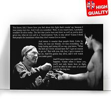 Rocky Angel On Your Shoulder Quote Inspirational Poster | A5 A4 A3 A2 A1 |