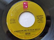"MFSB - Summertime And I'm Feelin' Mellow / Hot Summer Nights 1976 DISCO SOUL 7"""
