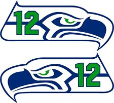 Seattle Seahawks 12th MAN Decals Left and Right PAIR great gift