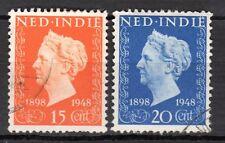 Dutch Indies - 1948 Silver Jubilee Wilhelmina - Mi. 360-61 VFU