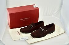 AUTHENTIC Salvatore Ferragamo Men's 'Magnifico' Suede Loafer Size 8 - $495 RRP